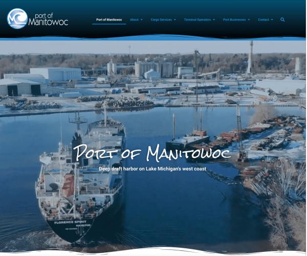 Port of Manitowoc landing page_